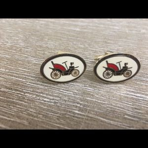 Unique Vintage Antique-Auto Enameled Cuffl…